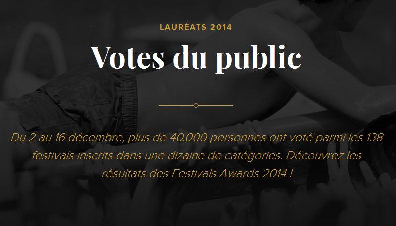 Festivals Awards 2014